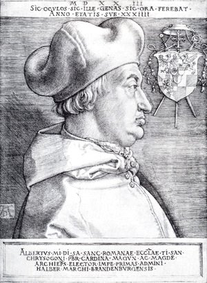 Albrecht Durer - Cardinal Albrecht Of Brandenburg (or The Great Cardinal)
