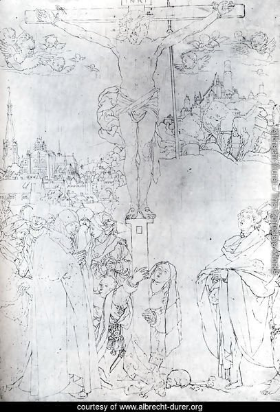Crucifixion With Many Figures