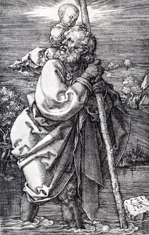 Albrecht Durer - St. Christopher Facing To The Left