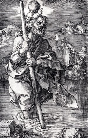 Albrecht Durer - St. Christopher Facing To The Right