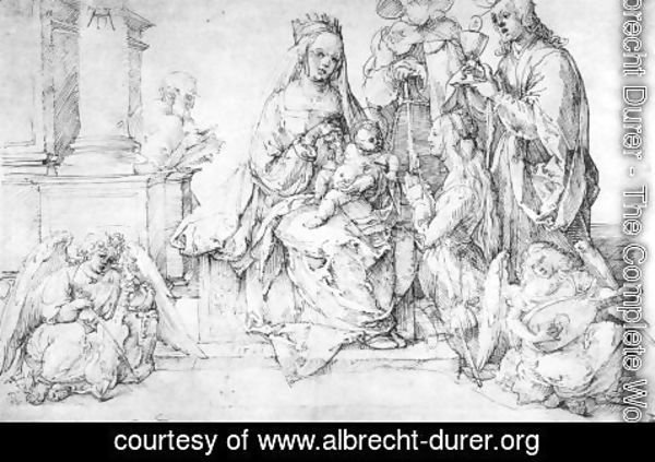 Albrecht Durer - The Virgin With Two Angels And Four Saints (or St. Catherine St. John The Evangelist, St. James The Great And St. Joseph)