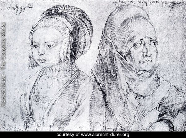 A Young Girl Of Cologne And Durer's Wife