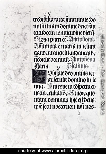 Albrecht Durer - Pages Of Marginal Drawings For Emperor Maximilian's Prayer Book (Pic2)