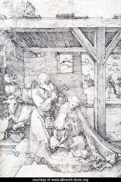 The Nativity: Adoration Of The Christ Child In The Stables with The Virgin And St. Joseph
