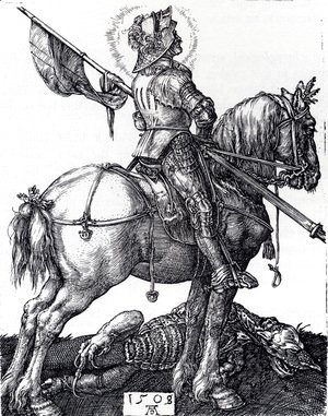 Albrecht Durer - St. George On Horseback