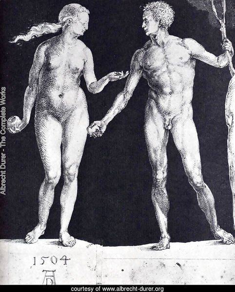 Idealistic Male And Female Figures (or Adam And Eve)