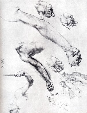 Albrecht Durer - Three Studies From Nature For Adam's Arms In The 1504