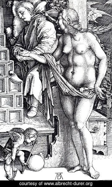 Albrecht Durer - The Temptation Of The Idler (or The Dream Of The Doctor)