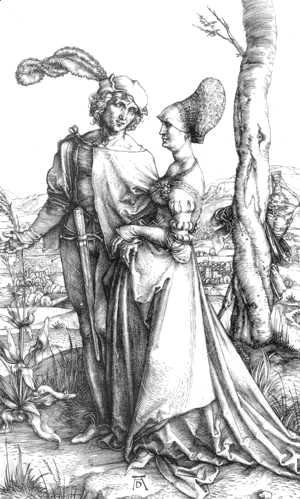Albrecht Durer - Young Couple Threatened By Death (or The Promenade)