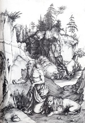 St. Jerome Penitent In The Wilderness