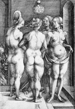 Albrecht Durer - The Four Witches (or Judgment of Paris)
