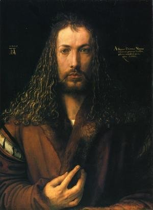 Albrecht Durer - Self Portrait in a Fur-Collard Robe