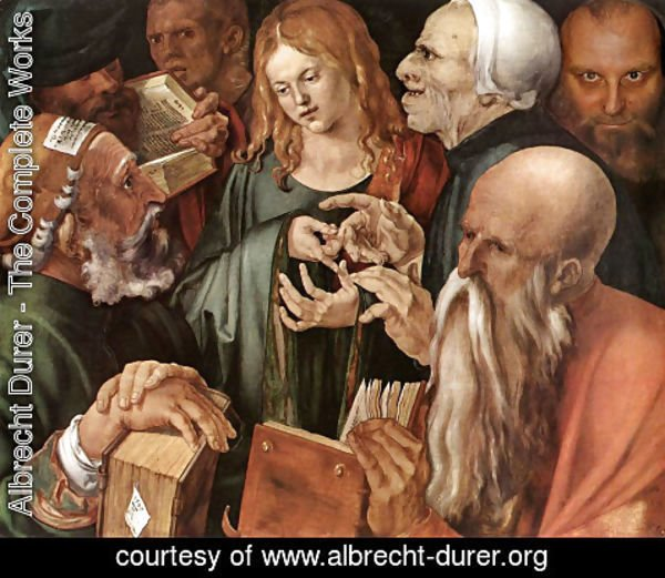 Albrecht Durer - Christ amog the Doctors