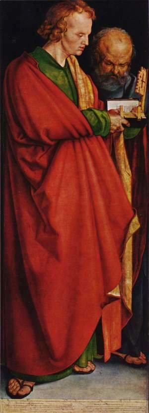 Albrecht Durer - Four Holy Men (left panel): St. John and St. Peter