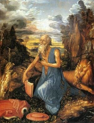 Albrecht Durer - St. Jerome in the Wilderness