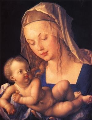 Virgin and Child with Half a Pear