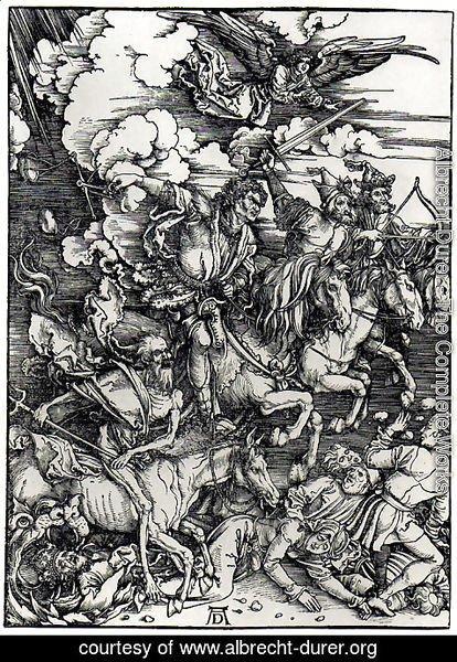 Four Horsemen of the Apocalypse by Albrecht Durer | Oil Painting |  albrecht-durer.org