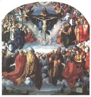 Albrecht Durer - Adoration of the Trinity I