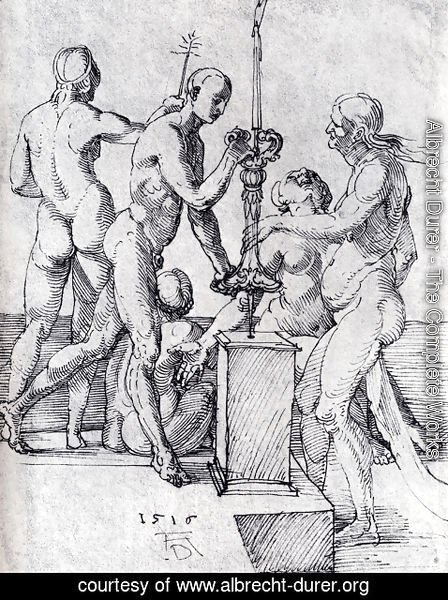 Albrecht Durer - Male And Female Nudes