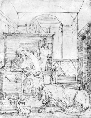 Albrecht Durer - St. Jerome In His Study