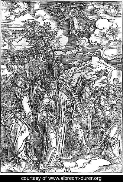 Albrecht Durer - Angels Restraining the Four Winds