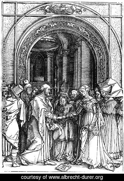 Albrecht Durer - Betrothal of the Virgin