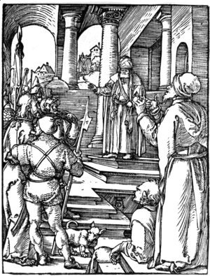 Albrecht Durer - Christ Before Pilate 2