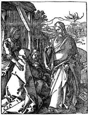 Albrecht Durer - Christ Taking Leave of his Mother