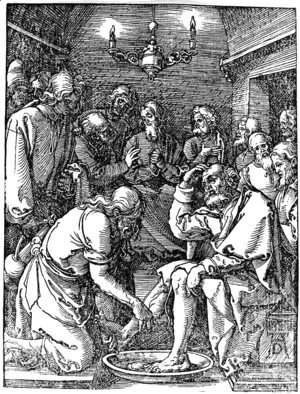 Albrecht Durer - Christ Washing the Feet of St. Peter