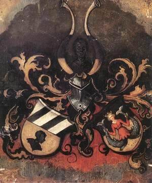 Albrecht Durer - Combined Coat-of-Arms of the Tucher and Rieter Families