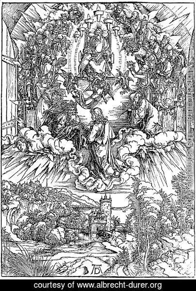 Albrecht Durer - St.John in Clouds, Surrounded by 24 Elders around the Throne of God