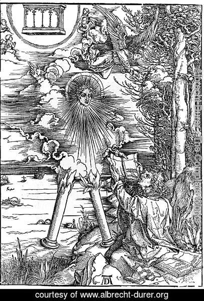 Albrecht Durer - St.John Swallowing Book Presented by Angel