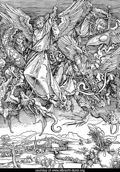 St.Michael and his Angels Fight the Dragon