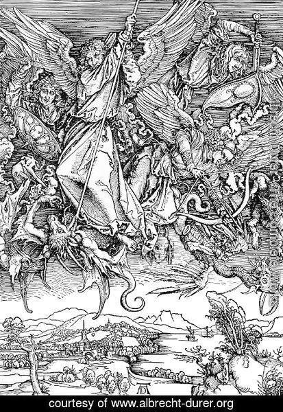 Albrecht Durer - St.Michael and his Angels Fight the Dragon
