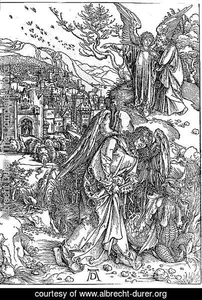 Albrecht Durer - The Angel with the Key to the Pit