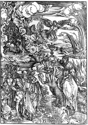Albrecht Durer - The Woman of Babylon Seated upon a Beast with Seven Heads