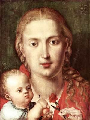 Albrecht Durer - The Madonna of the Carnation
