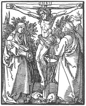 Albrecht Durer - Christ on the Cross with the Virgin and St John