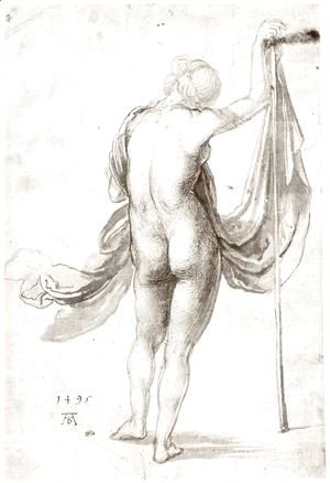Albrecht Durer - Female Nude from Behind