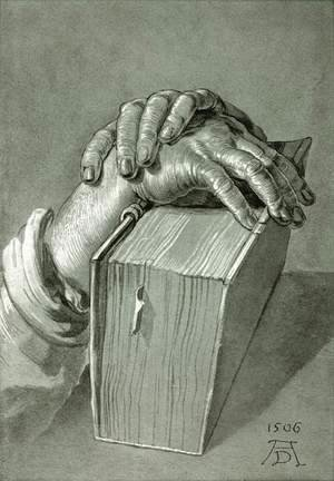 Albrecht Durer - Hand Study with Bible