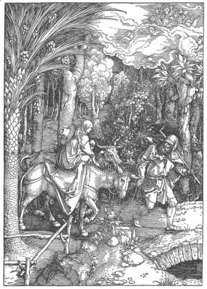 Albrecht Durer - Life of the Virgin, 13. The Flight into Egypt