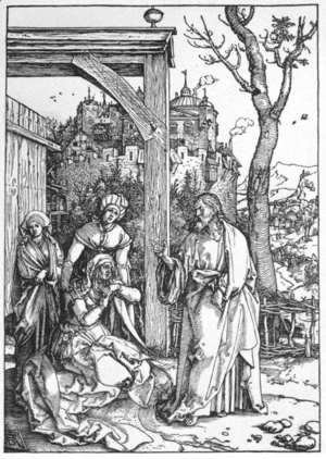 Albrecht Durer - Life of the Virgin, 16. Christ Taking Leave of his Mother