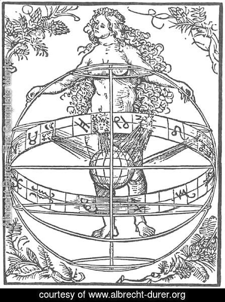 Albrecht Durer - Nude Woman with the Zodiac