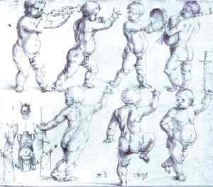 Albrecht Durer - Putti Dancing and Making Music