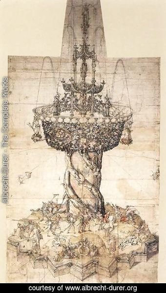 Albrecht Durer - Sketch of a Table Fountain
