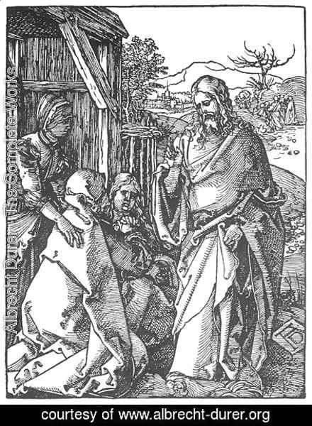 Albrecht Durer - Small Passion, 05. Christ Taking Leave of His Mother