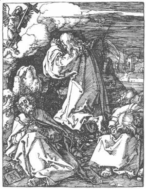 Albrecht Durer - Small Passion, 10. Christ on the Mount of Olives