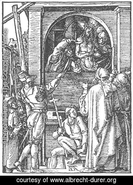 Albrecht Durer - Small Passion, 19. Christ Shown to the People