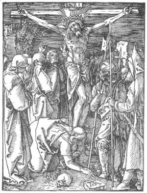 Albrecht Durer - Small Passion, 24. Christ on the Cross