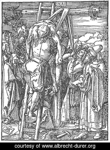 Albrecht Durer - Small Passion, 26. The Descent from the Cross